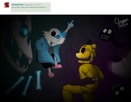 Sans vs Golden Freddy by Chopangigante