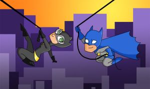 Still Swinging Through Colorful Gotham by Allam