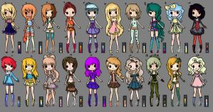 100 Adopts Part 1 (OPEN) by Musicallychalanged