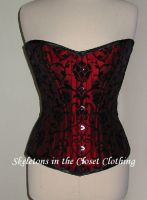 Flockprint Corset by BlackvelvetSITC