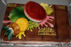 Fruit Ninja Cake by Sister-of-Charity
