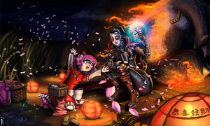 League of Legends: Art of Revelry Annie + Vayne by CaffeineHeart