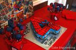 Spiderman Number Cake and Cake Pops by cake-engineering