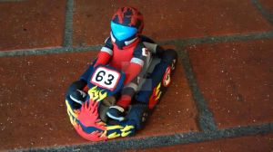 The go kart commission (front view) by KitschyCustomCrafts