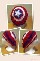 Captain America Slouchy Beanie by AvariceLingreed