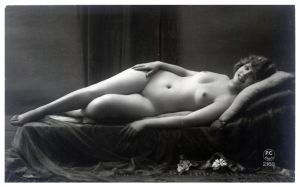 Vintage Lady Reclined Nude 19 by Bnspyrd
