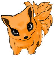 chibi ninetails by justicexgeasa
