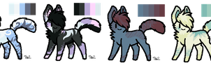 Colour Pallete Adoptables [4/4 OPEN] by PurryProductions-Inc