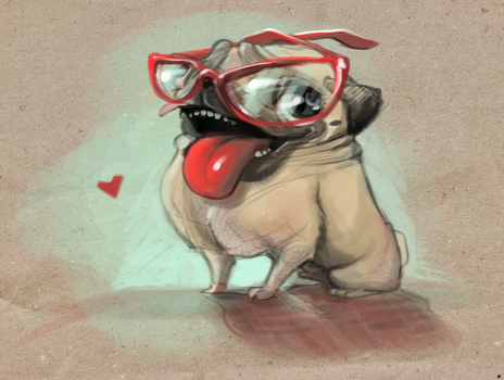 Pug by JCBowie