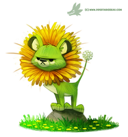 Daily Painting #966. Dande-Lion (OG) by Cryptid-Creations