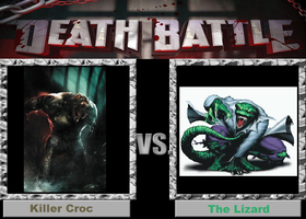 Death Battle (Fan)--Killer Croc vs. The Lizard by XPvtCabooseX
