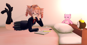 Homeworks time by Myrisakura