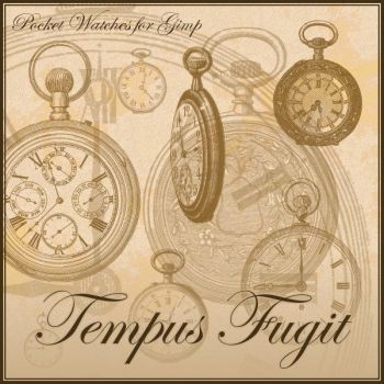 Tempus Fugit - Pocket Watches Brushes for Gimp by Lucida