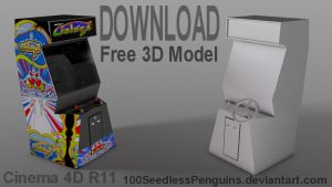 Free C4D Arcade Model by 100SeedlessPenguins