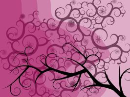 elegant purple vines by papier-puppe
