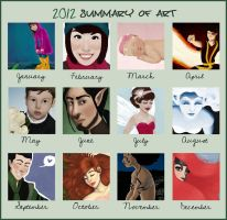 2012 Art Summary by Valliegurl
