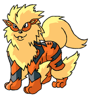 Arcanine in paint by SneakingSniper