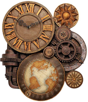 Steampunk : Gears Of Time Wall Clock by RogueVincent