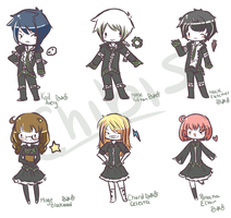 Chibis by Reverrii
