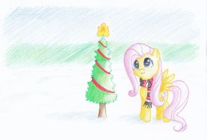 Flutter Shy's Christmas by nerow94