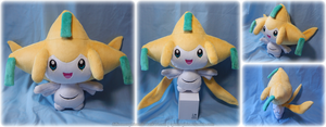 Life-size Jirachi Plush by Diffeomorphism