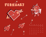 February wallpaper calendar by Nyrh
