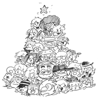Presents Under the Tree by cailencrow