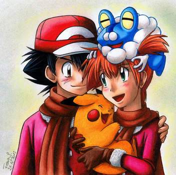 ash and misty kiss the girl № 334787