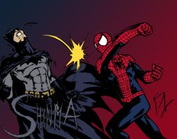 Spider-Man vs. Batman by MatiasSoto by edCOM02