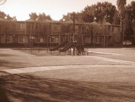21st Century Sepia: Playground by cillanoodle