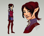 Ylwenn Character Concept by greifvogel