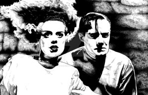 Bride of Frankenstein by stephenburger
