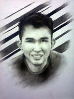 Commission Charcoal portrait by idielastyr