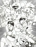 My POKEMON soccer team by Pokelai