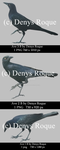 aves negras paq 2 by DenyRoqueDesign by DenysRoqueDesign