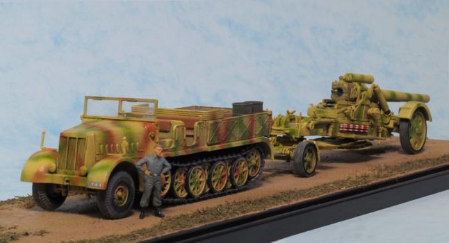 Sd.Kfz.9 FAMO and 21 CM Morser 18 (2) by Low688