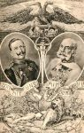 WWI post card of the two Kaisers by julius1880