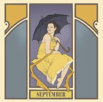 fake mucha's - september by kaffepanna