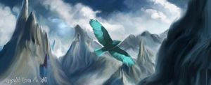 The Ice Eagle and The Giant by A-Fleeting-Glimpse