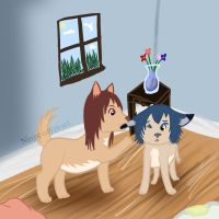 Wolf children Ame and Yuki by Silver-she-wolf-14