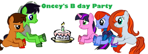 oncey's b day party pony version by nana-chin