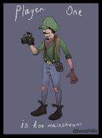 Hipster Luigi by AsherBuckley