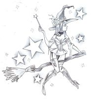 Witch Star Tattoo Design by 2Face-Tattoo