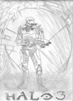 Halo 3 drawing by SubZer0XAvenger