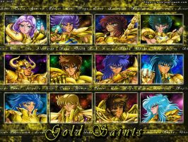 Wallpaper: Gold Saints by Trio-Infierno