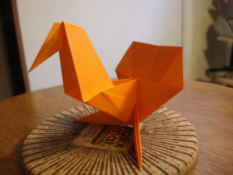 origami turkey by afrokenshi