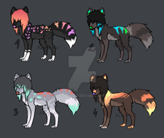 [CLOSED] Tiny Scene Canine Adoptables by kat-adopts