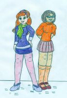 HJ - Kim Possible and Bonnie Rockwaller by Jose-Ramiro