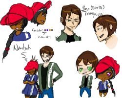Ben 10 and Number 5_sketchdump by iLSNerd