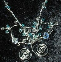 frost fairy wing Necklace by silverbeam